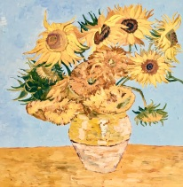 12 Sunflowers in th Manner of Van Gogh by Lynda Manson