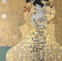 The Woman in Gold by Lynda Manson in the Manner of Gustav Klimt