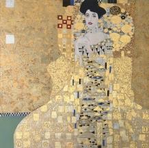 The Woman in Gold by Lynda Manson in the Manner of Gustav Klimt