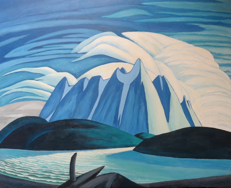 Lake and Mountains in the Manner of Lawren Harris (SOLD)