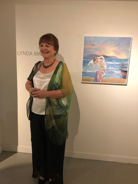 Lyn at her New York Exhibition